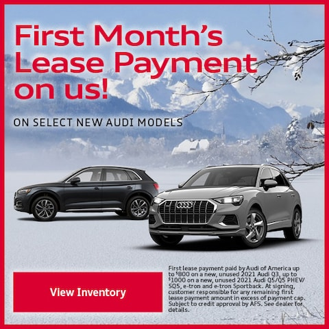 First Month's Lease Payment on us!