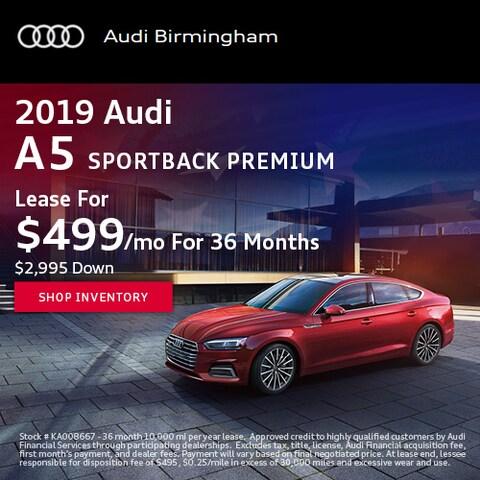 June 2019 Audi A5 Sportback Premium