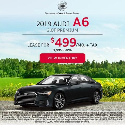 2019 Audi A6 3.0T Premium - Lease