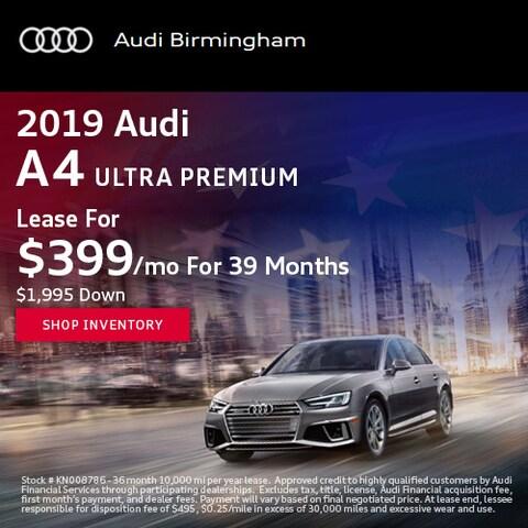 June 2019 Audi A4 Ultra Premium