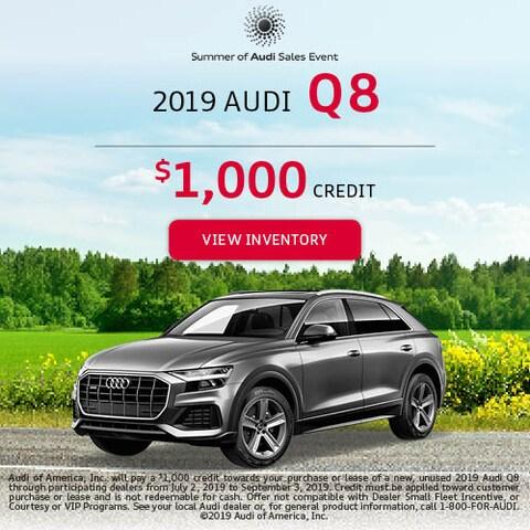 2019 Audi Q8 - Credit