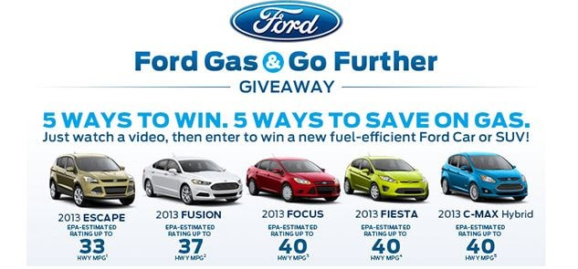 Enter the Ford Gas and Go Giveaway and Win a New Ford | Tom