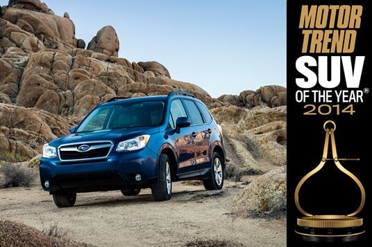 Subaru Forester Wins Motor Trend 2014 SUV of the Year Award