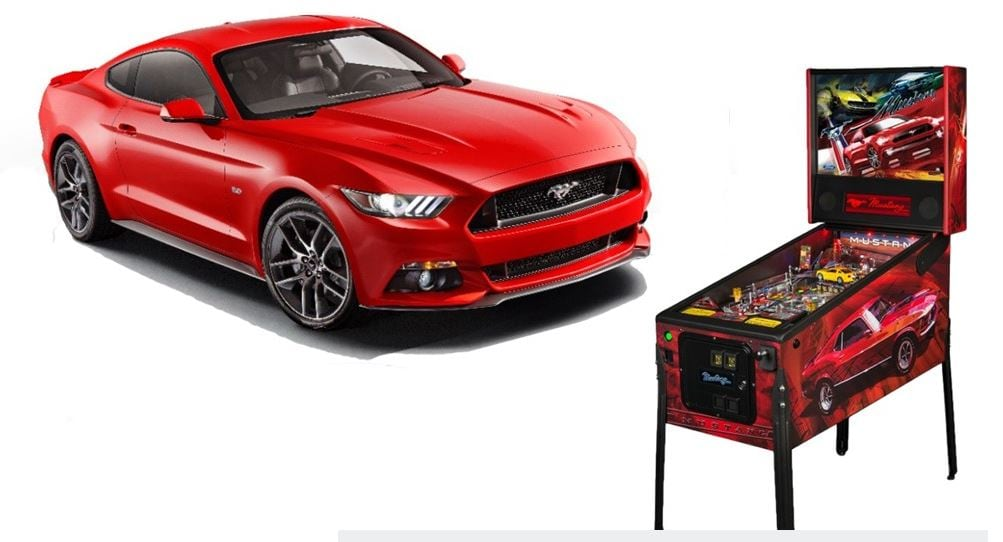 e88b3f6ab Crafted by Chicago's own Stern Pinball, the Mustang-inspired games combine  two prime examples of 20th century American pop culture – the coin-operated  ...