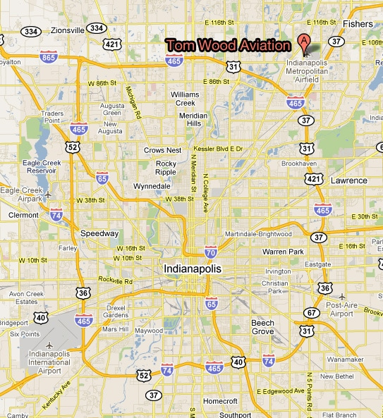 Location and Directions | Tom Wood Aviation