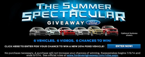 Win a New Ford With the Ford Summer Spectacular Giveaway