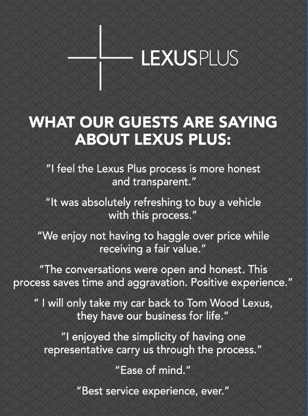 image of testimonials for tom wood lexus plus in indianapolis indiana