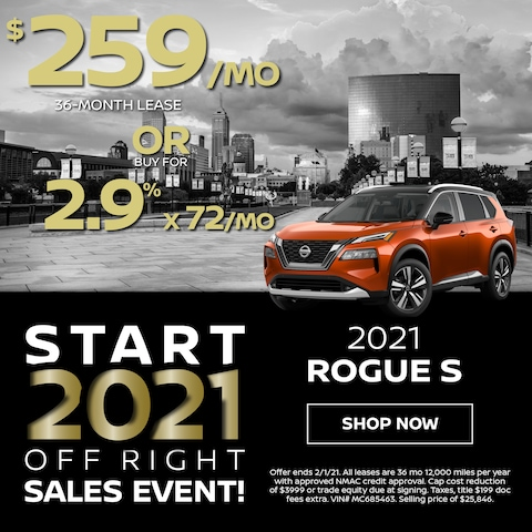 2021 Rogue S $259/Month