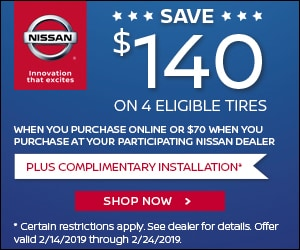 SAVE $140 on 4 Eligible Tires
