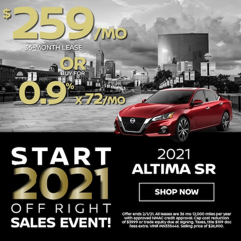2021 Altima Sr $259/Month