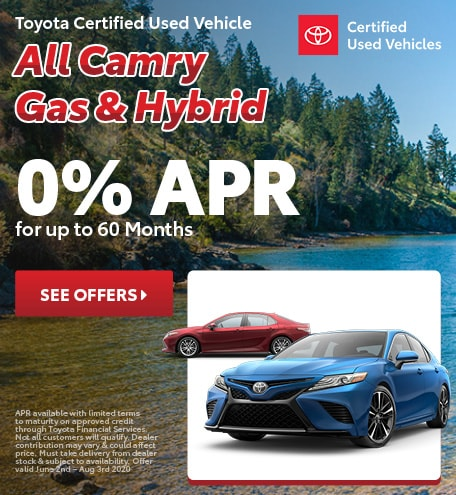 Toyota Certified Used Vehicle All Camry Gas & Hybrid