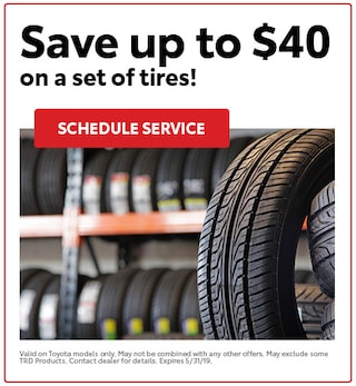 Save up to $40  on a set of tires