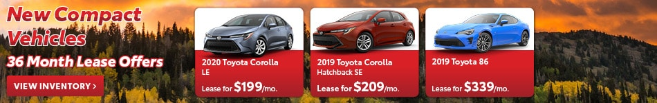 New Compact Vehicles 36 Month Lease Offers