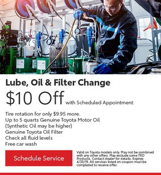 Lube, oil & Filter change