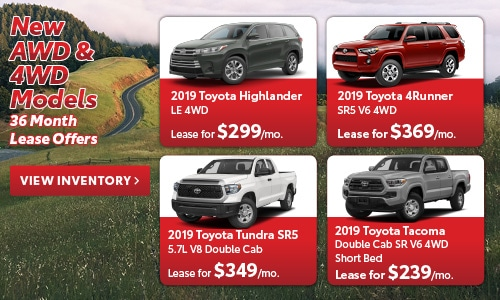 New AWD & 4WD Models 36 Month Lease Offers