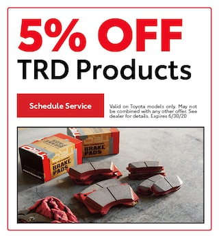 5% OFF TRD Products