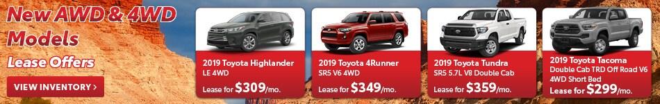 New AWD & 4WD Models