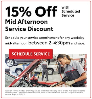 Mid Afternoon Service Discount