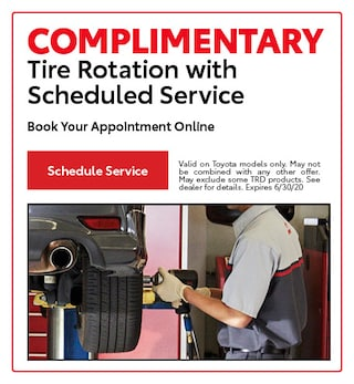 COMPLIMENTARY Tire Rotation with Scheduled Service