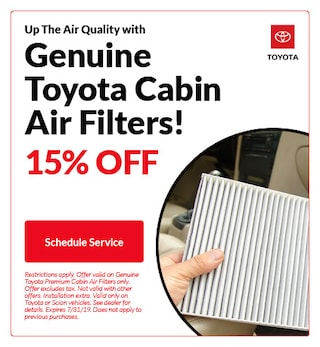 Genuine Toyota Cabin Air Filters