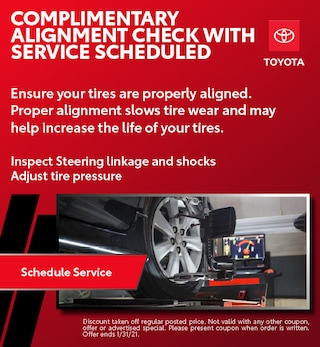 Complimentary Alignment Check with Service Scheduled