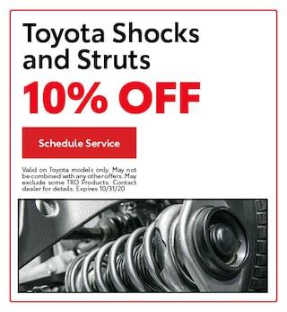 Toyota Shocks and Struts 10% Off