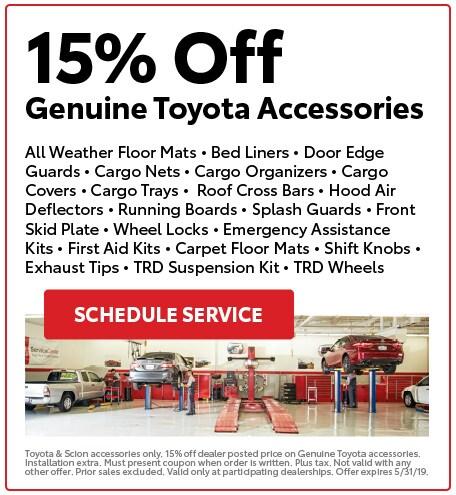 15% Off Genuine Toyota Accessories