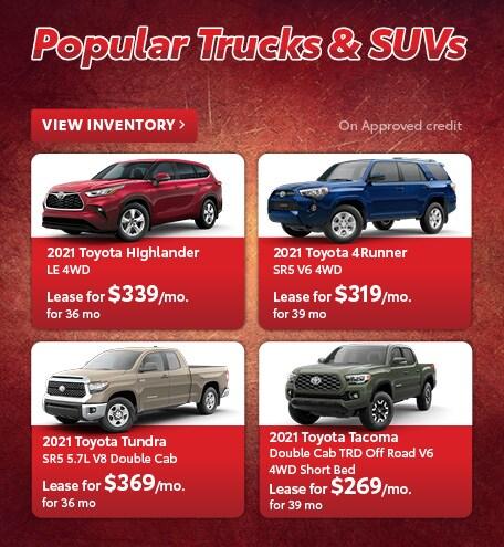 Popular Trucks & SUVs