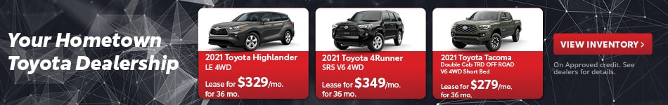 2021 Toyota Highlander, 4Runner, Tacoma