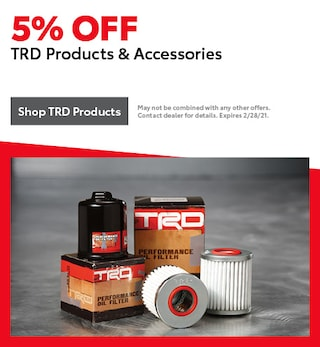 5% OFF TRD Products & Accessories
