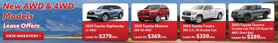 New AWD & 4WD Models Lease Offers