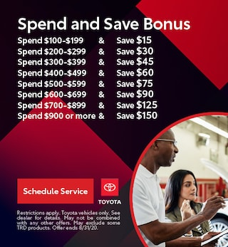 Spend and Save Bonus