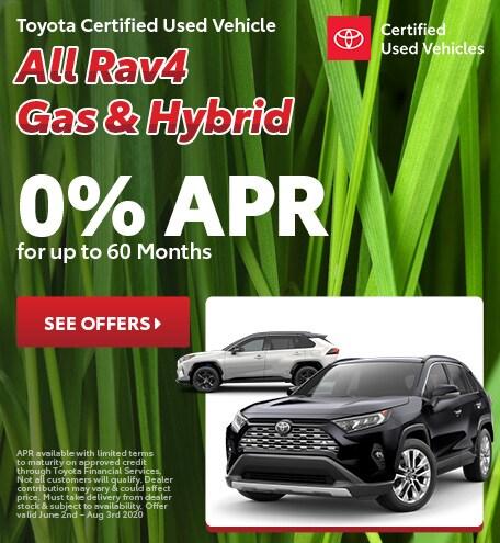 Toyota Certified Used Vehicle All Rav4 Gas & Hybrid