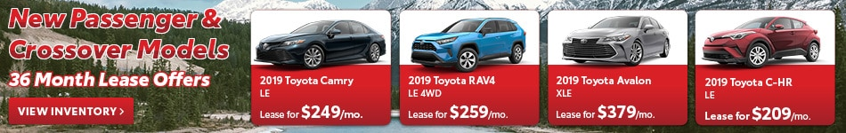 New Passenger & Crossover Models 36 Month April Lease Offers