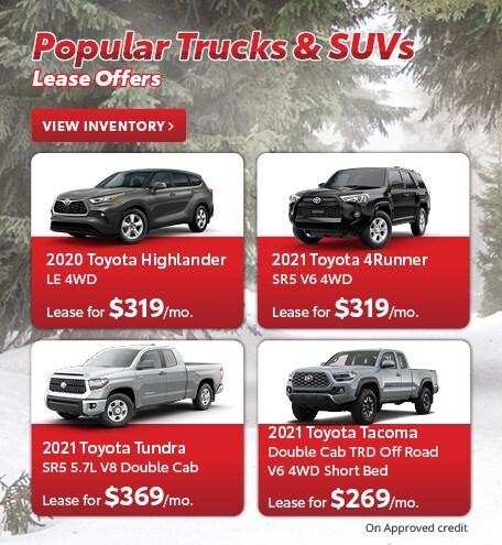 Popular Trucks & SUVs Lease Offers