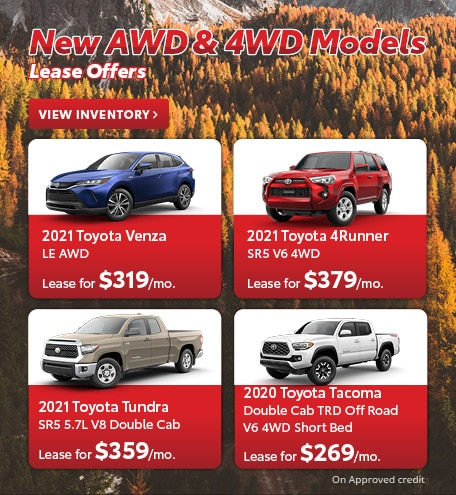 New AWD & 4WD Models