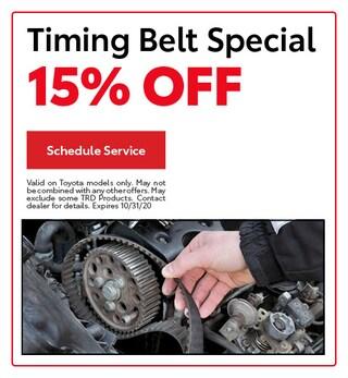 Timing Belt Special 15% Off