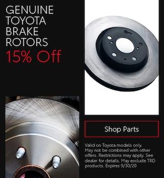 Genuine Toyota Brake Rotors