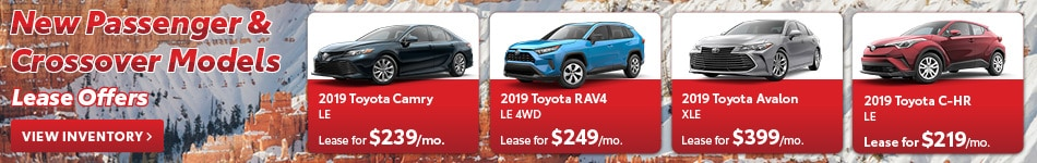 New Passenger & Crossover Models Lease Offers