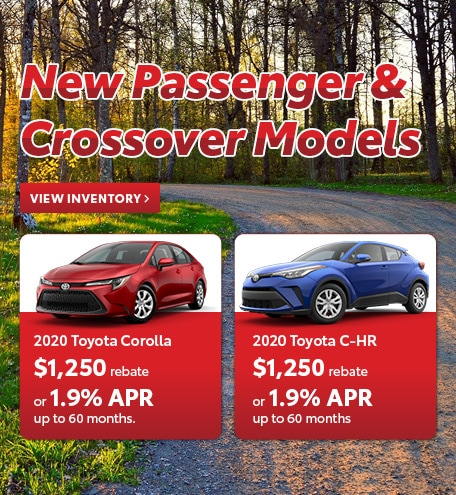 New Passenger & Crossover Models