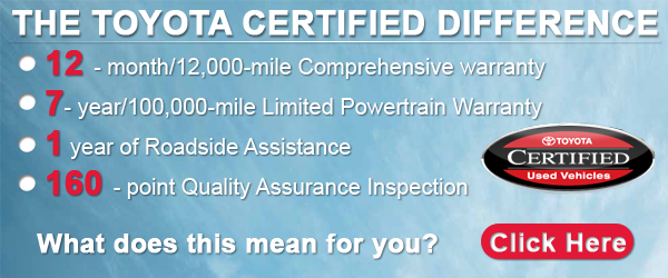 What is Toyota Certified?   Tony Divino Toyota Serving the