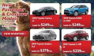 New Passenger & Crossover Models 36 Month Lease Offers