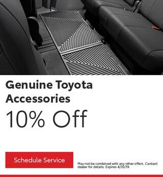April Genuine Toyota Accessories