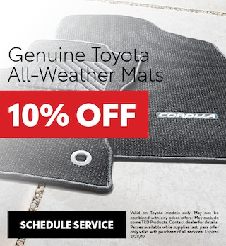 Genuine Toyota All Weather Mats
