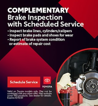Complementary Brake Inspection with Scheduled Service