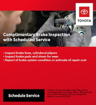 Complimentary Brake Inspection with Scheduled Service
