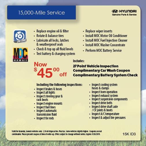 Find Hyundai Auto Service Special in Waipahu   Visit Tony Hyundai
