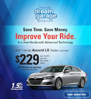 2021 Accord LX Sedan Lease, ends 5/3/21