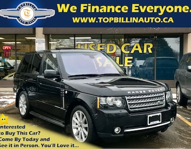 2012 Land Rover Range Rover Supercharged, Fully Loaded, 2 Years WARRANTY SUV