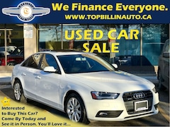 2013 Audi A4 2.0T Quattro, Only 40K km, SUNROOF Sedan